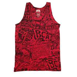 Stain Tank (Red/Black)