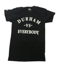 Load image into Gallery viewer, DURHAM -VS- EVERYBODY TEE (black)