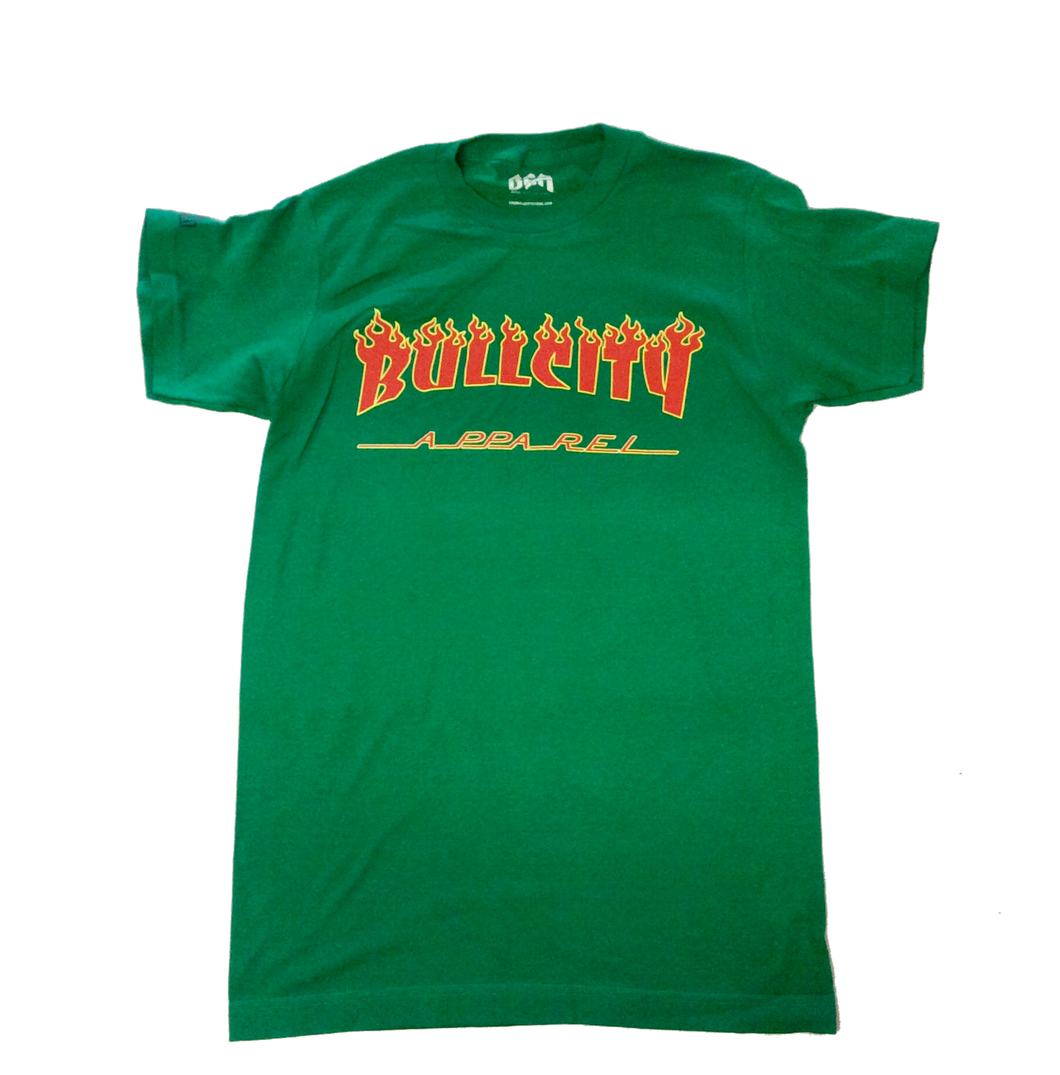 BullCity Thrasher Tee (Green/Red/Yellow)
