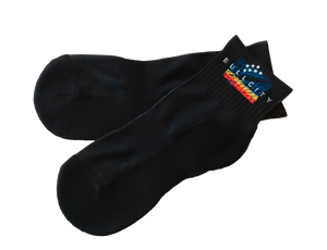 BullCity Scribble Flag Socks (Black)