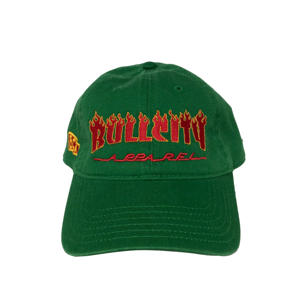Thrasher Dad Cap (Green/ Red/Yellow)