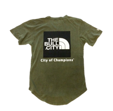 Load image into Gallery viewer, The Bull City / City of Champions  long tail Tee( Vintage Olive Green)