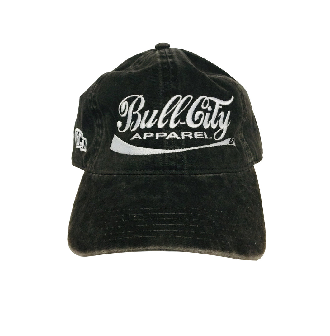 BullCity Cola Dad Hat  (Black Washed)