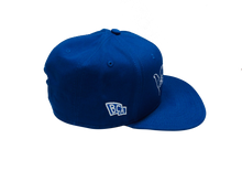 Load image into Gallery viewer, BullCity Fist Snapback (royal/white)