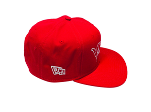 BullCity Fist Snapback (red/white)