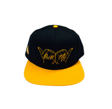 Load image into Gallery viewer, BullCity Fist Snapback (Blk/Gold)