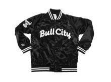 Load image into Gallery viewer, BULL CITY Draft Day Satin Jacket (Gloss Black)