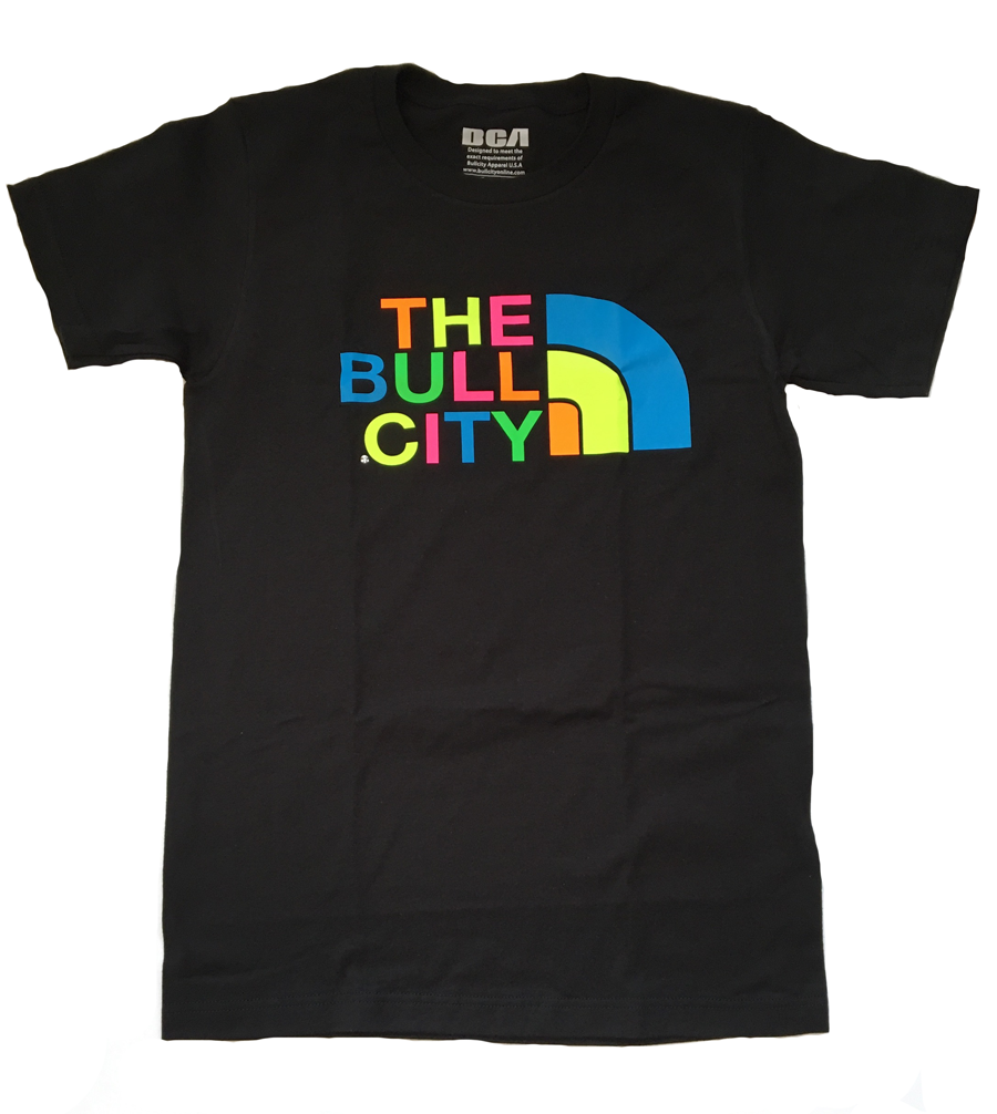 THE BULL CITY TEE  (Neon/Black)