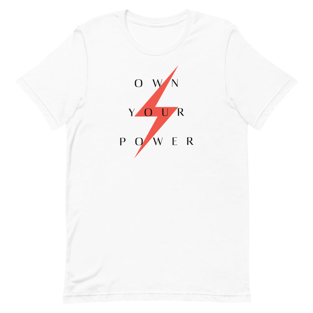 White tee own your power - Woman Thunder