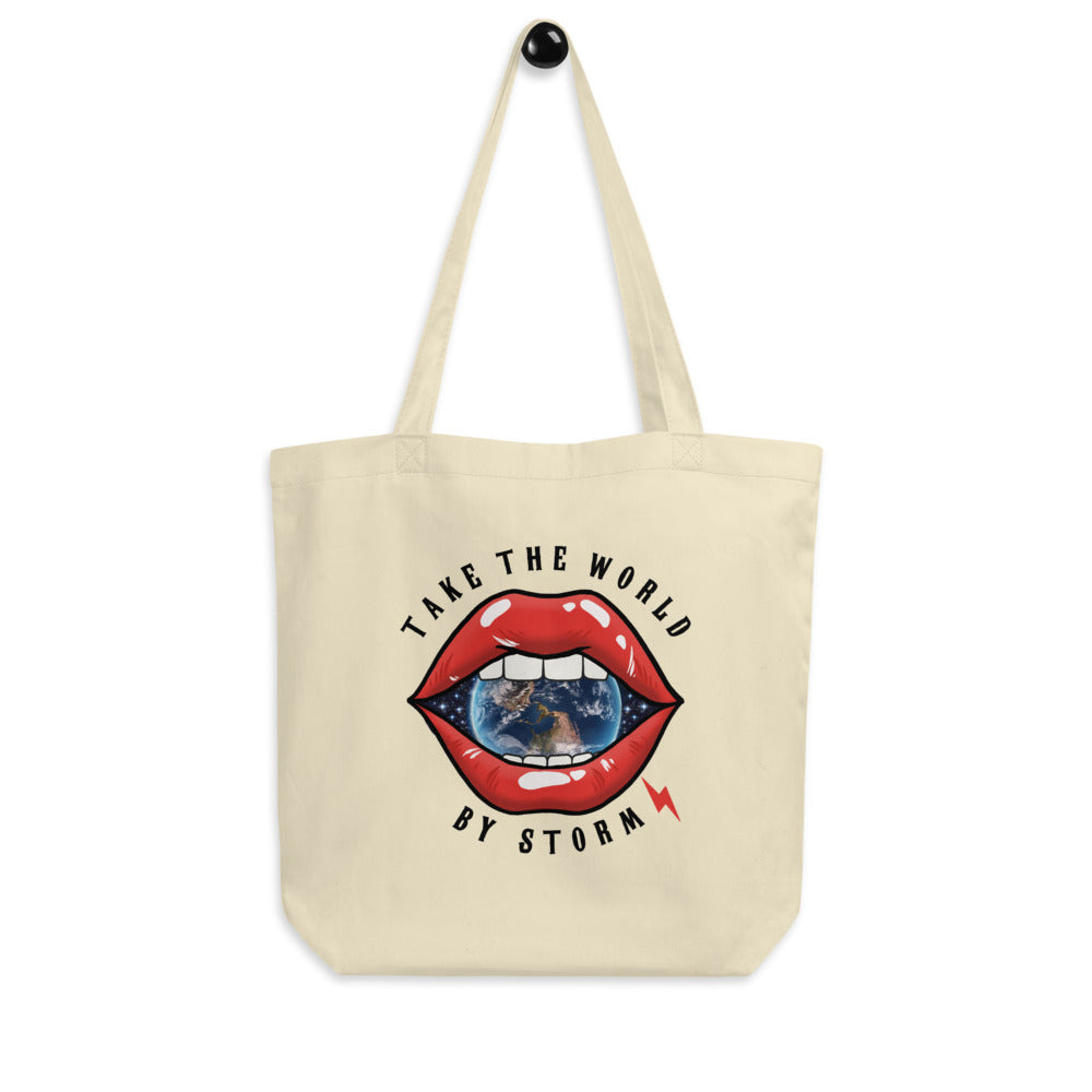 TAKE THE WORLD BY STORMTOTE BAG - OYSTER