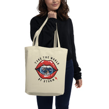 Load image into Gallery viewer, TAKE THE WORLD BY STORMTOTE BAG - OYSTER