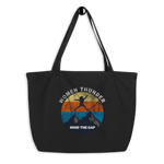 MIND THE GAP - Black & Oyster XL organic tote-bag