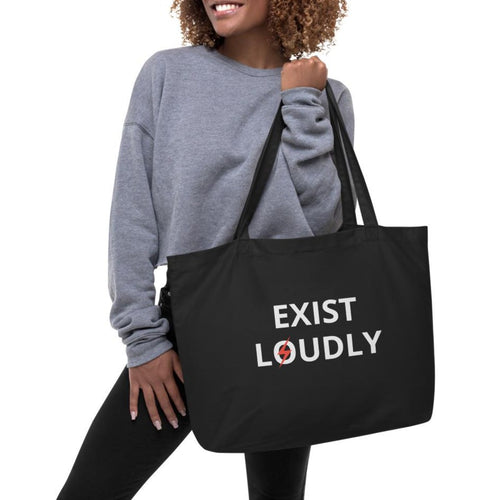 organic tote back black