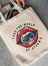Load image into Gallery viewer, Take the world Tote - Women Thunder