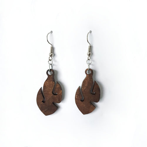 Wooden Fish Hook Earrings