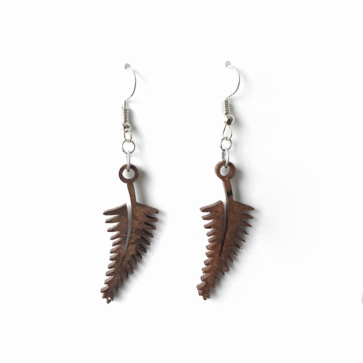 Wooden Fern Earrings