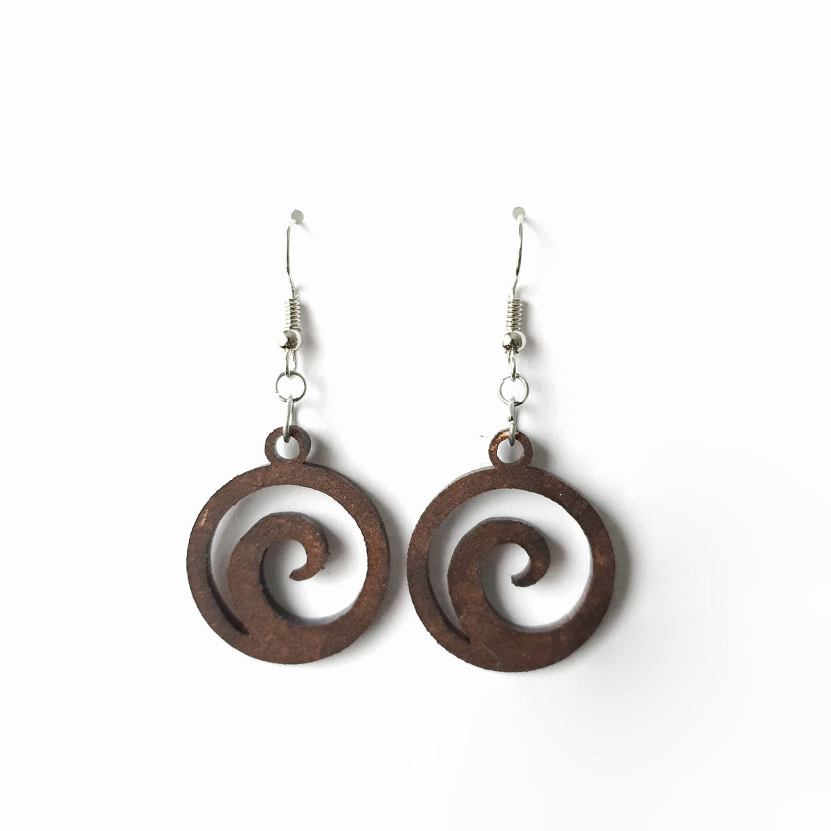 Wooden Koru Earrings