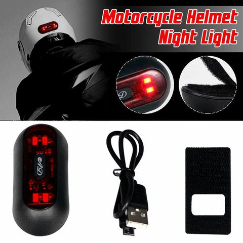 Portable Bright LED helmet light-   Rechargeable battery operated