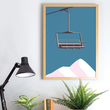 Affiche 'Chair Lift & Mountains'