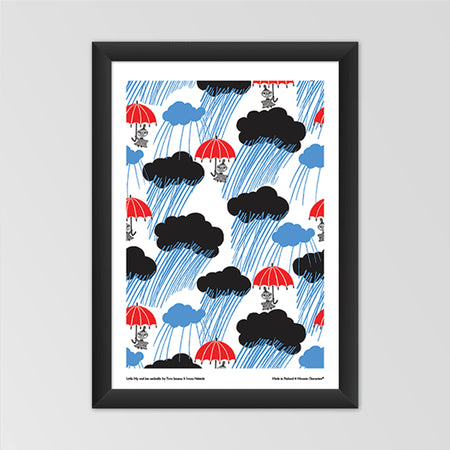 Affiche Moomin 'Little My and her umbrella'