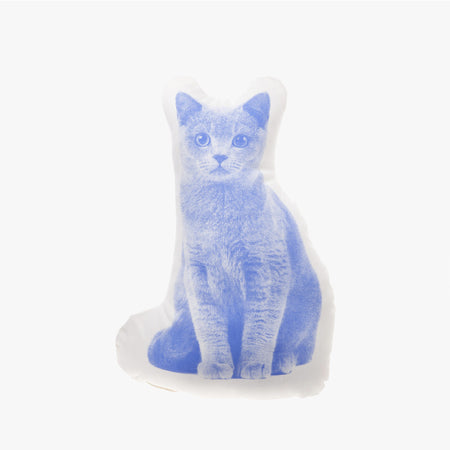 Coussin 'Chat British shorthair'