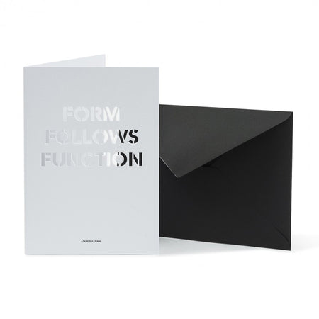 Carte de souhait 'Form follows function' [Architecture]