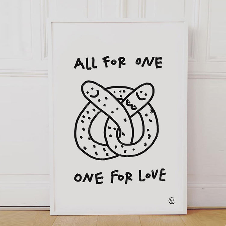 Affiche sérigraphiée 'All for one'