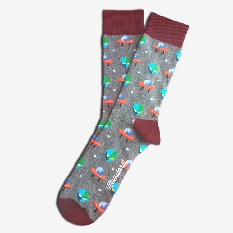 Chaussettes unisexes spatiales Extraterrestres