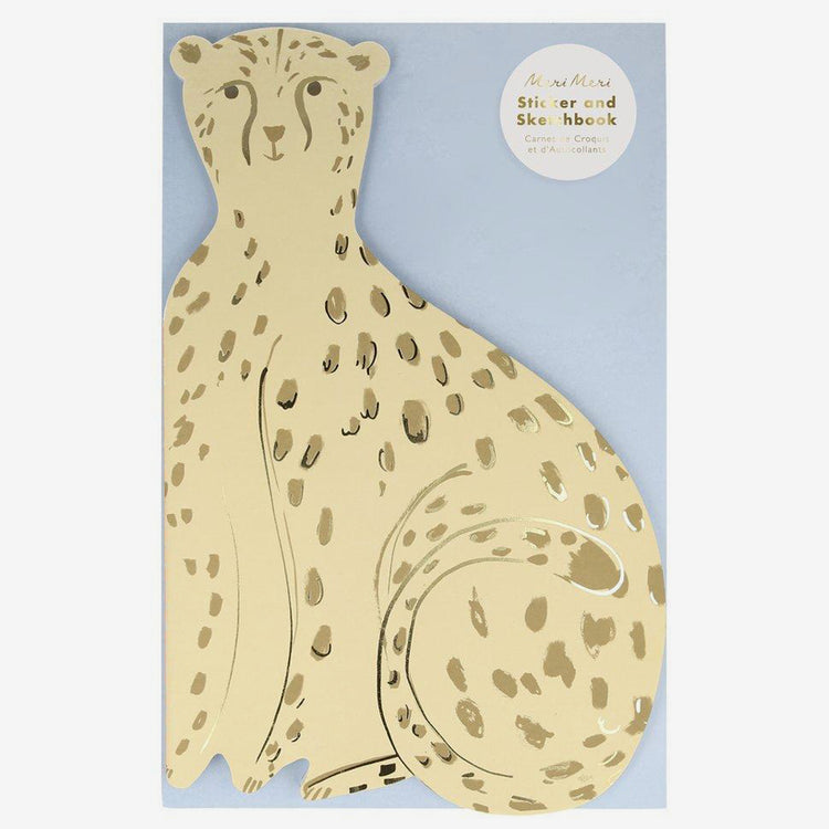 Cahier de notes et autocollants 'Cheetah'