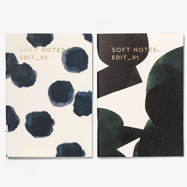 Ensemble de 2 carnets de notes 'Floral & Pois'