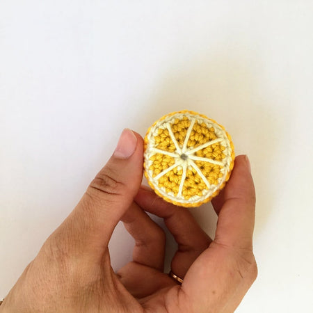Demi citron en crochet