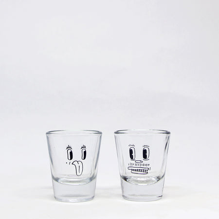 Duo de verres à shooter 'Madame & Monsieur'