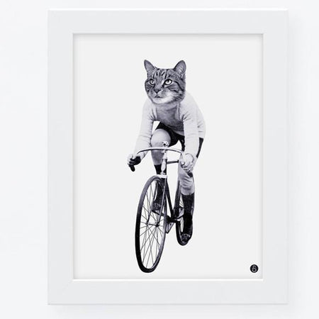 Affiche 'Cat on bike'