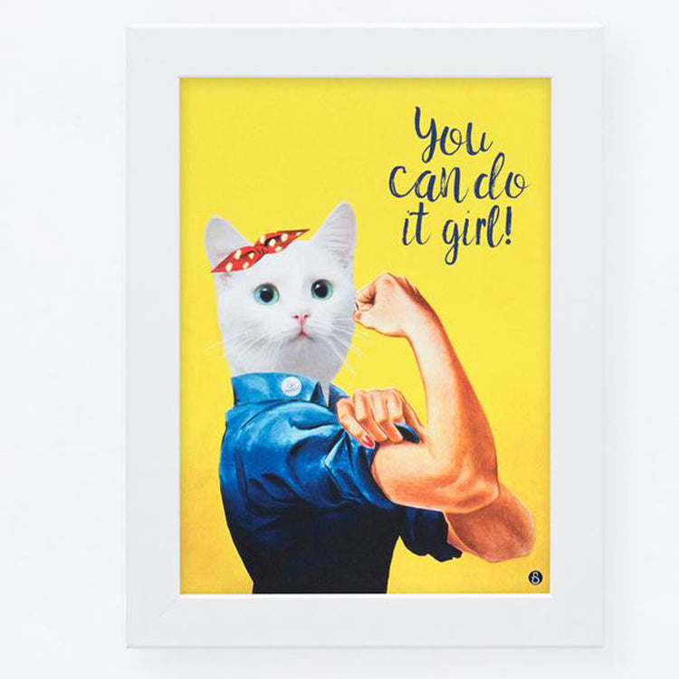 Affiche de chat 'You can do it girl'