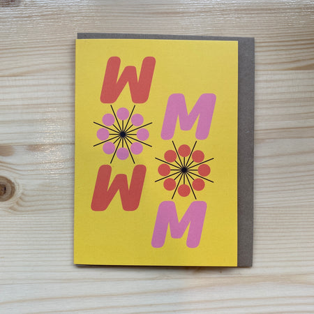 Carte de souhait 'Wow Mom'