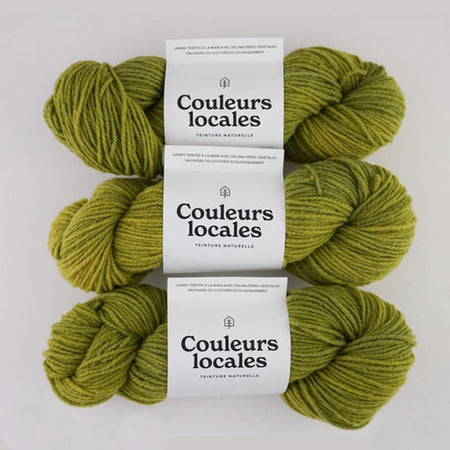 Laine douce RACINE 'Lime électrique' [calibre worsted, 2 brins]