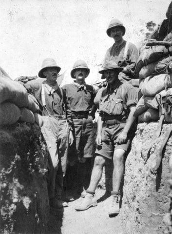 New Zealand Army Officers, Major Levin, Captain Wallingford, Major Powles, and Major king, Gallipoli, 1915.