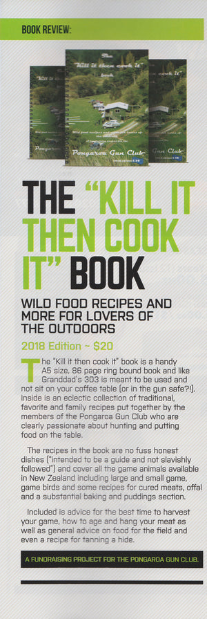 """Kill it then cook it"" Book."