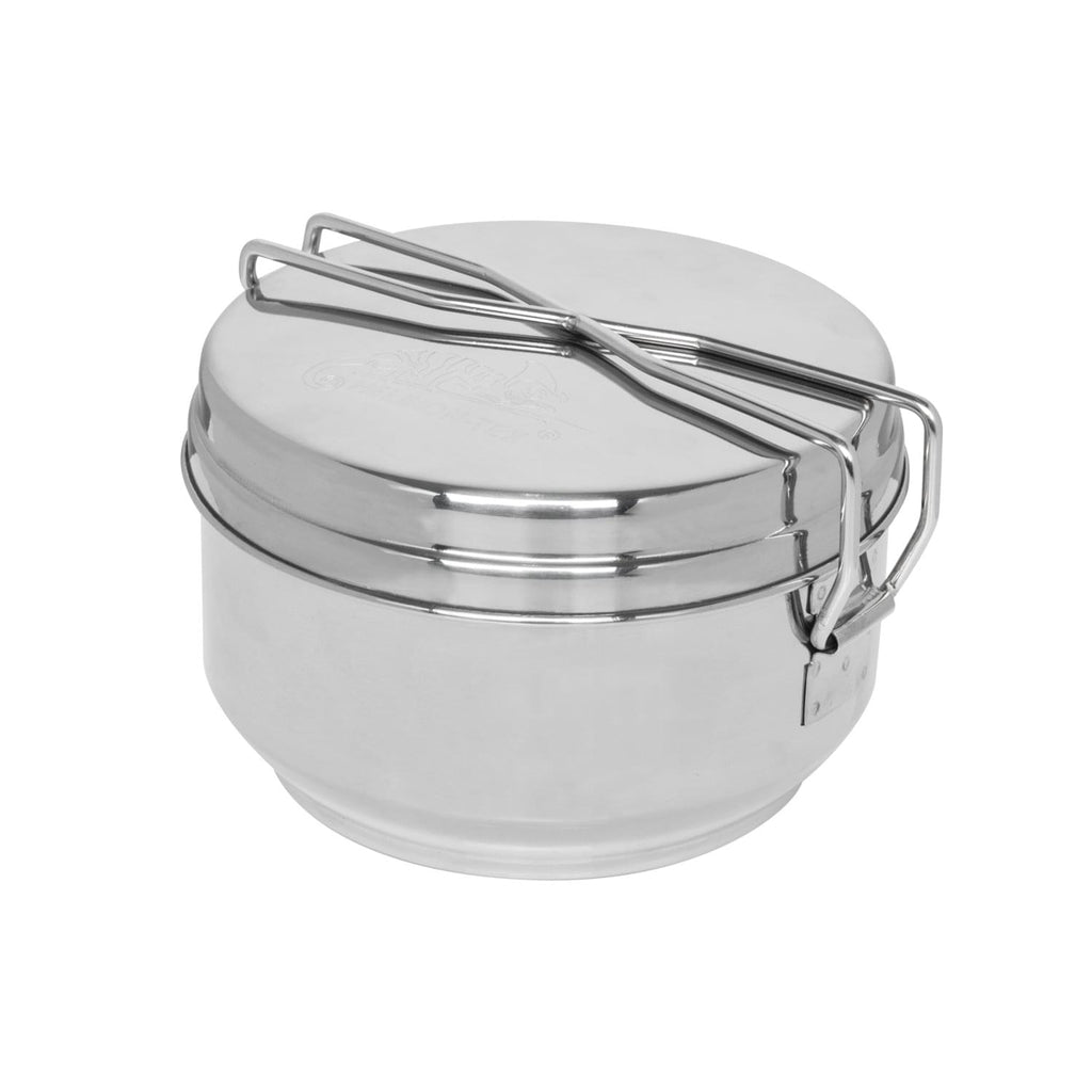 Stainless steel mess tin set