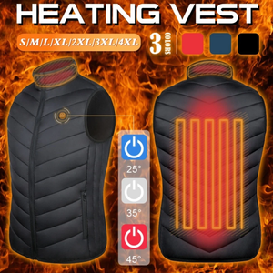 Unisex 8 Areas Heated USB Vest Jacket