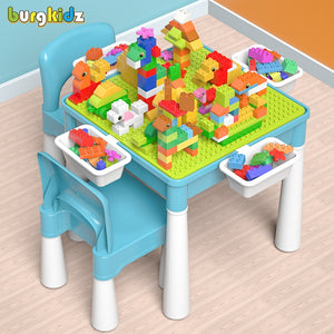 Kids Activity Table with Chair & Blocks