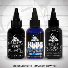 Load image into Gallery viewer, Black and Blue Set - Big Sleeps Ink
