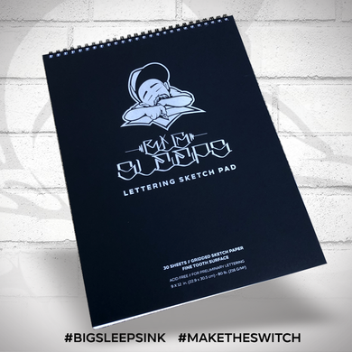 Lettering Sketch Pad - Big Sleeps Ink