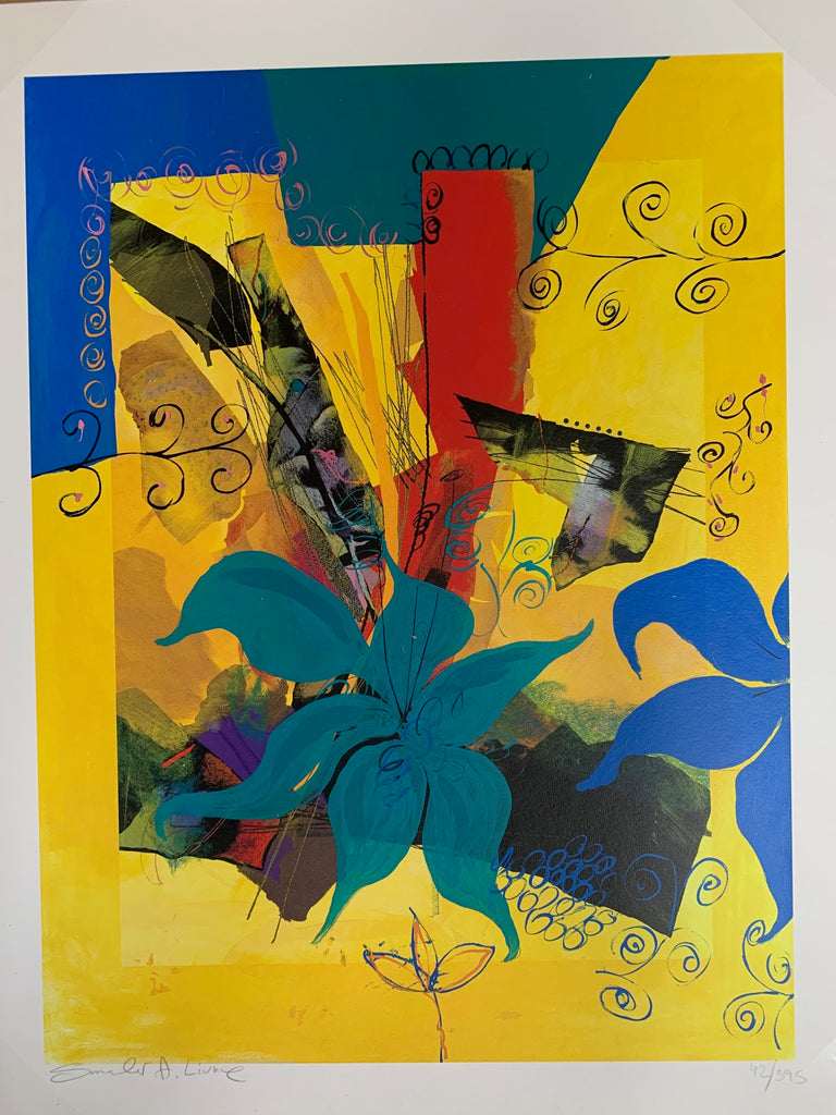 Blue Flower Limited Edition Print Smadar Livne Fine Art
