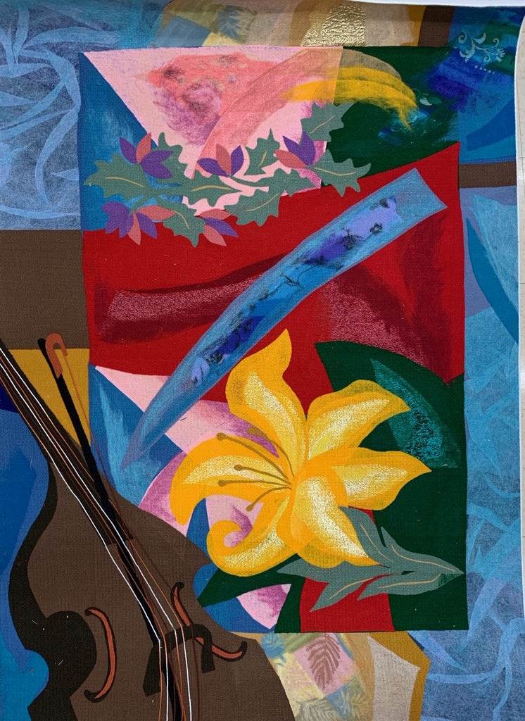 Music For the Flower Handmade Felt Tapestry Wall Art