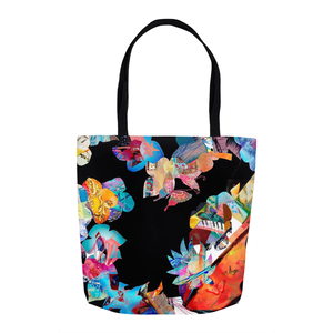 Tote Bags - Black Heart Collage