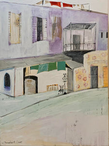 """Street in Taberia"" Original Acrylic on canvas 36""x48"""