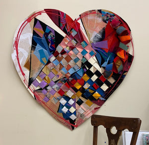"""Fun Love"" - 48W x 48H Tapestry and Handmade Felt"