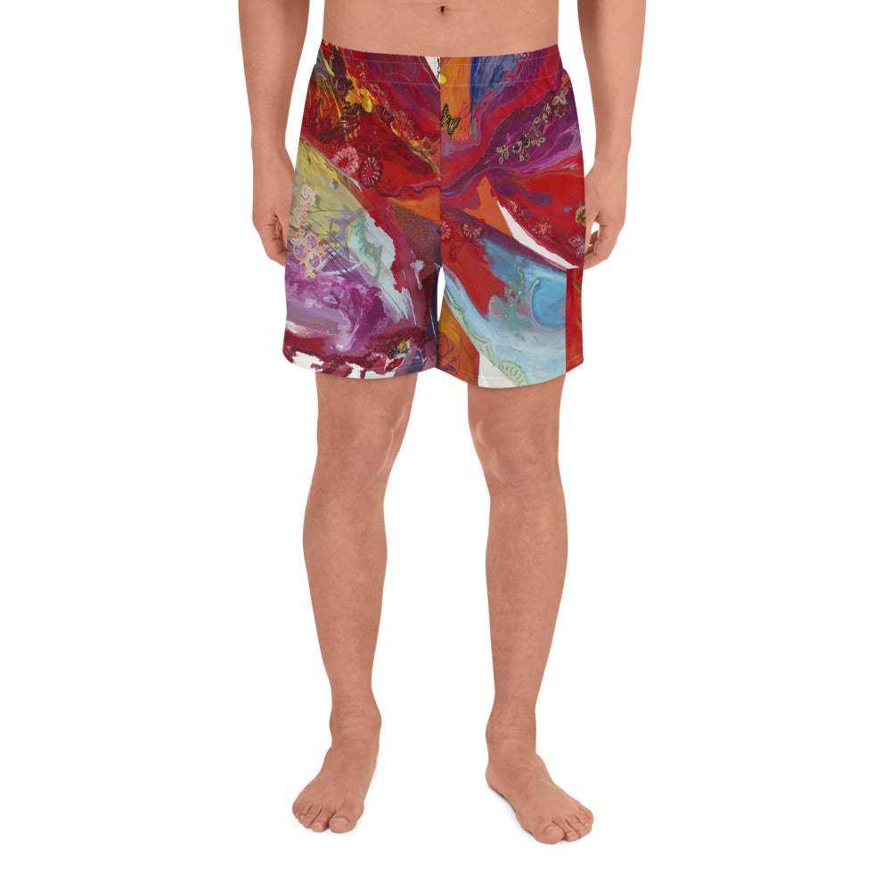 Men's Athletic Long Shorts - Blossom