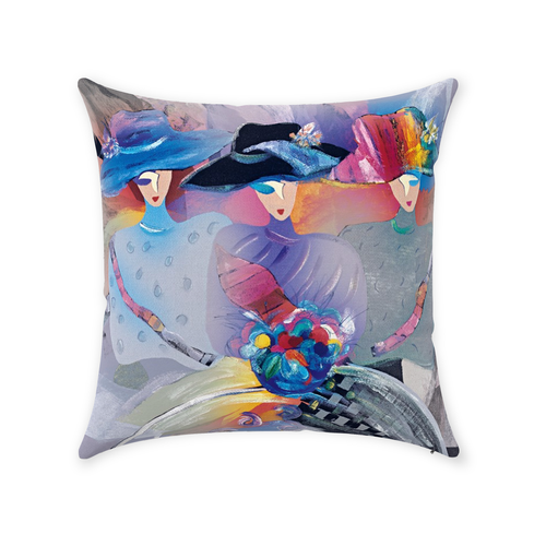 Zippered Throw Pillows - Three Ladies